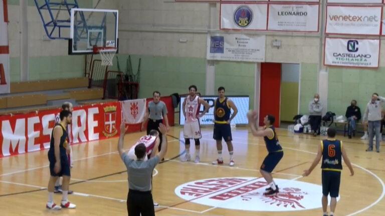 Basket, Giulianova cede all'ultimo quarto contro Mestre