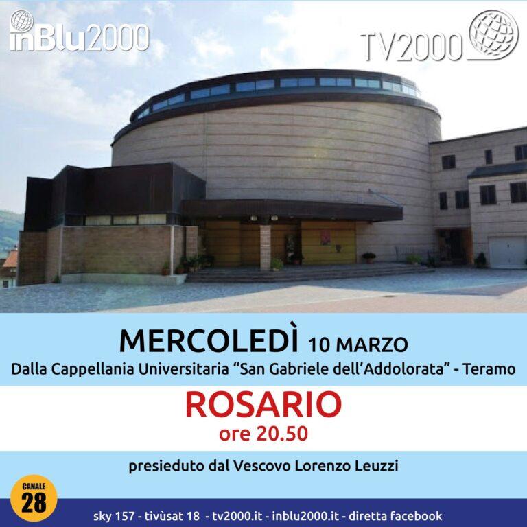 Teramo, il Rosario per l'Italia in diretta dalla parrocchia di San Gabriele a Colleparco