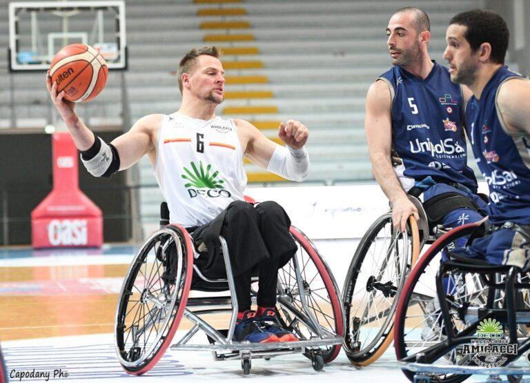 Basket in carrozzina, semifinali play off per l'Amicacci Giulianova