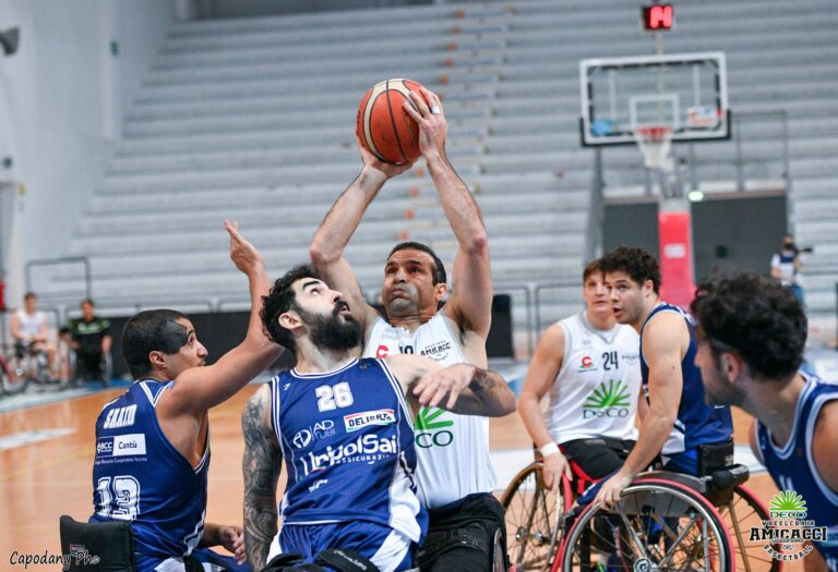 Basket in carrozzina, Giulianova perde la prima semifinale: ora serve l'impresa
