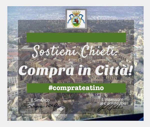 #Comprateatino: l'amministrazione invita la cittadinanza a fare gli acquisti a Chieti
