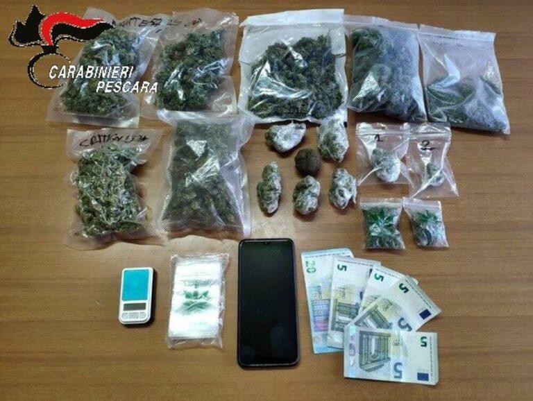 Città Sant'Angelo, fermato dai carabinieri cerca di far nascondere un borsone pieno di droga: arrestato