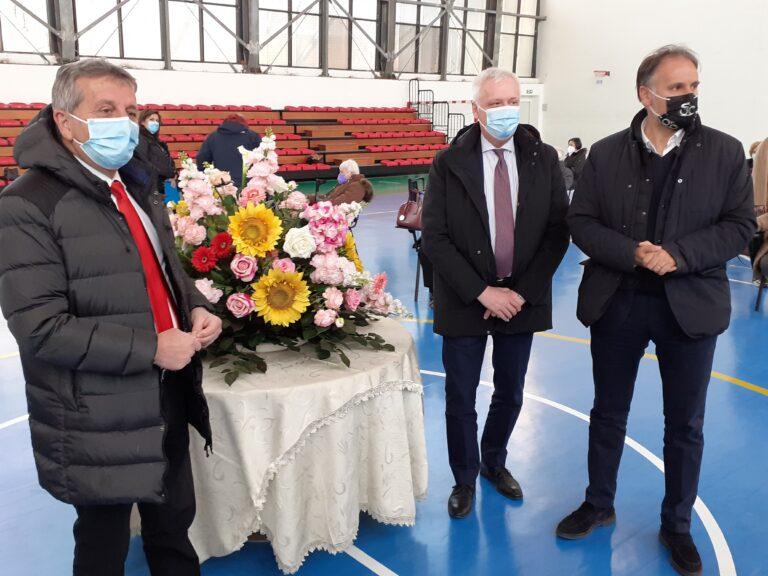 Avezzano, nuovo centro vaccinale alla Palestra 'Vivenza'