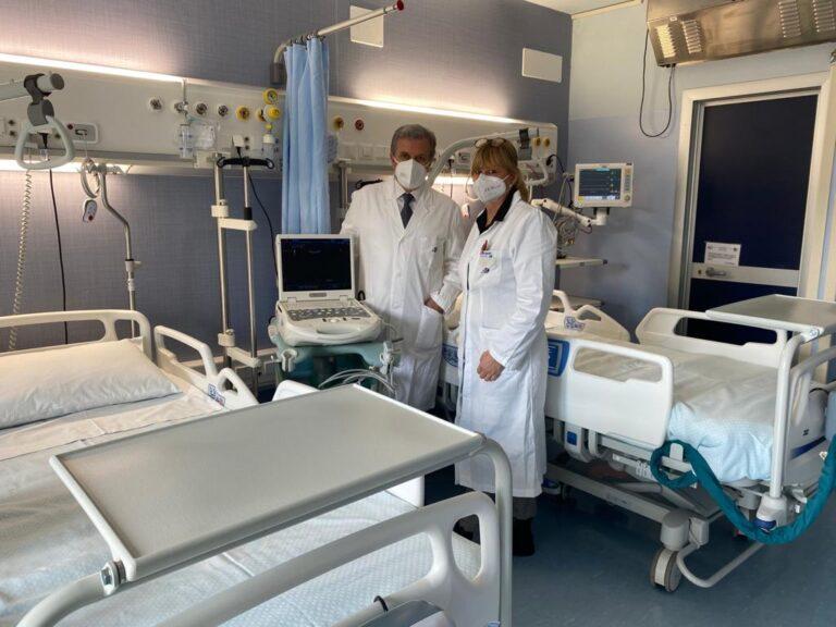 Ospedale L'Aquila, inaugurati 8 posti di terapaia sub intensiva per potenziare la lotta al Covid