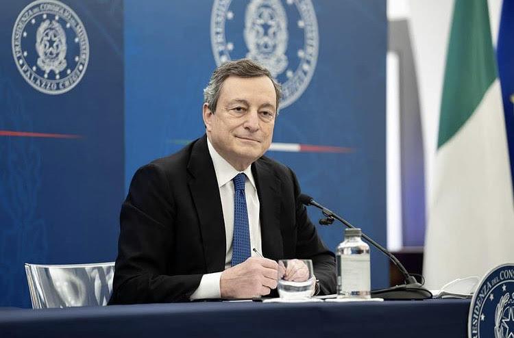 Mario Draghi a L'Aquila per inaugurazione del Parco della Memoria