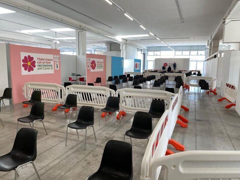 Pescara, il Palafiere pronto per i vaccini anticovid