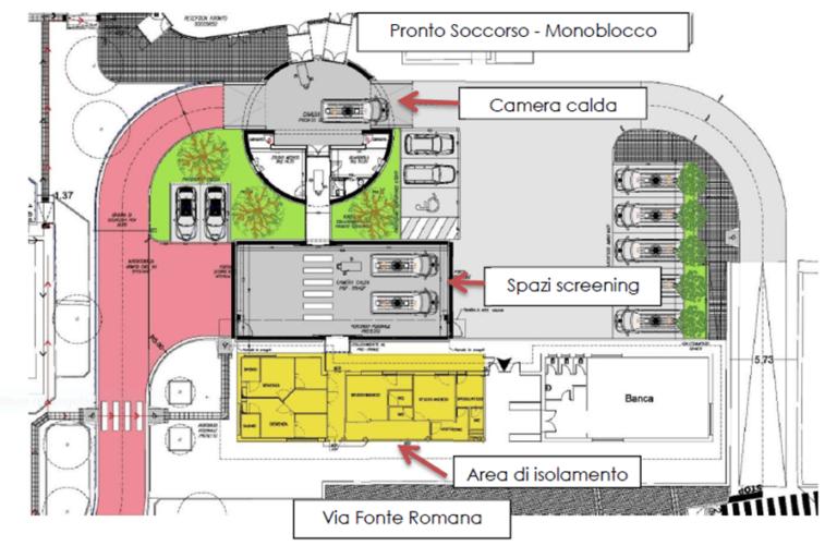 Pescara, pronto soccorso: inaugurato il nuovo pre-triage covid-VIDEO