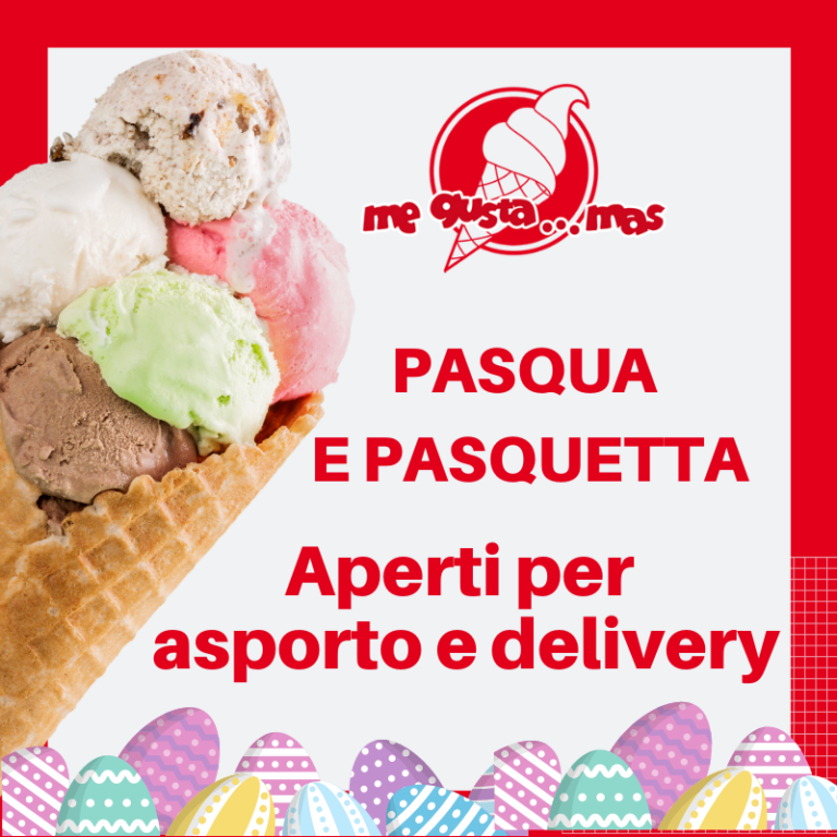 Me gusta Mas: Pasqua e Pasquetta aperti con delivery
