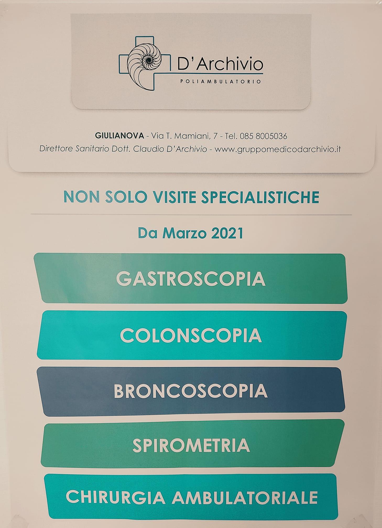 Gruppo medico D'Archivio, non solo visite specialistiche!