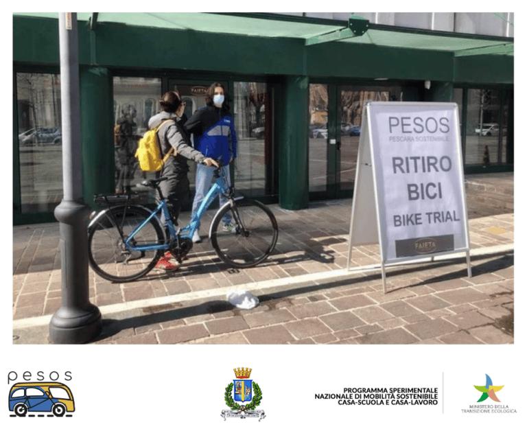 Pescara, mobilità sostenibile: grande successo per il bike trial