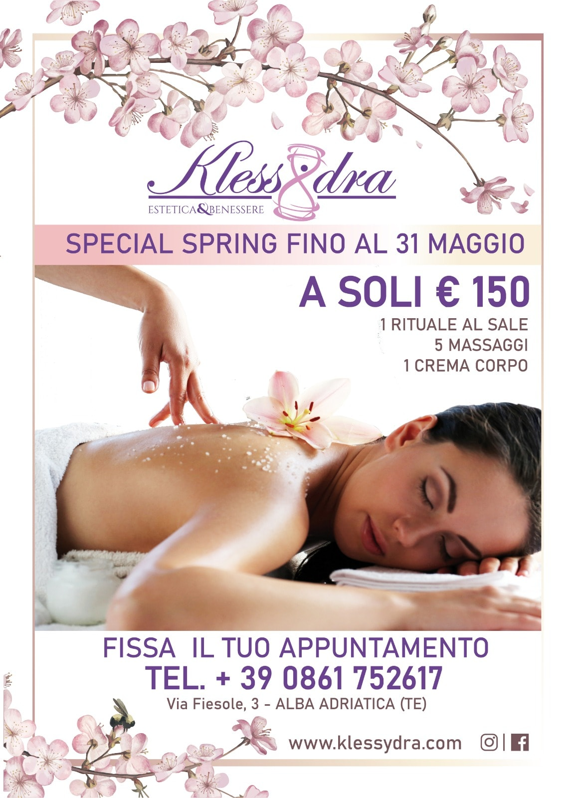 Centro Benessere Klessydra: SPECIAL SPRING
