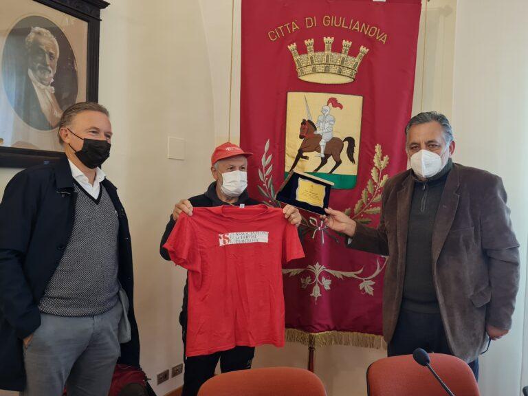 Giulianova, il viaggio di Elio Brusamento per la campagna sulla sclerosi tuberosa