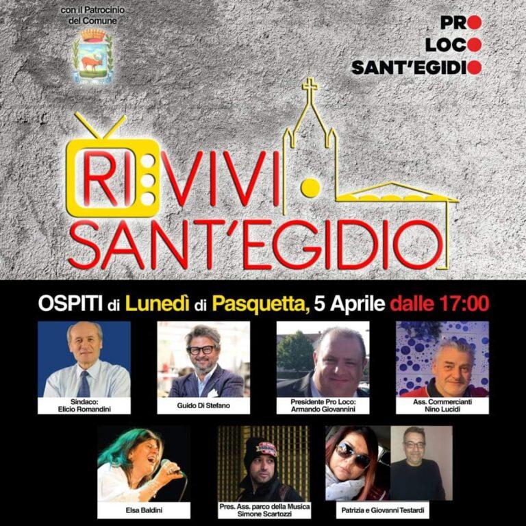 """Il nuovo format ideato dalla Pro-loco: """"RI-VIVI Sant'Egidio"""""""