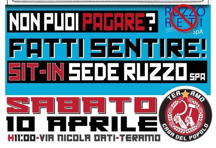 Teramo, bollette Ruzzo: sit in di protesta della Casa del Popolo