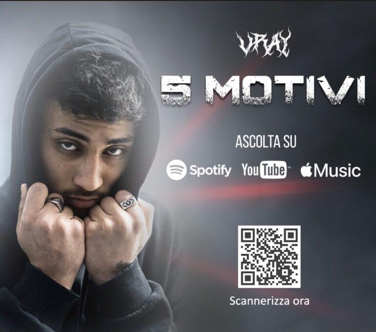 """Martinsicuro, """"5 Motivi"""": uscito il primo album di VRAY"""