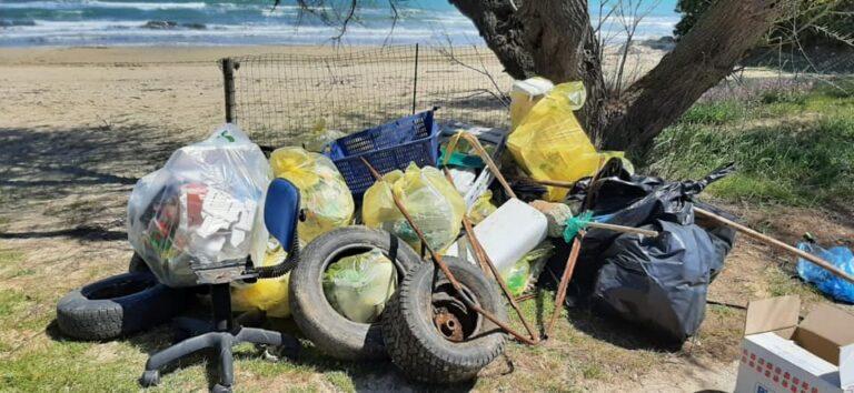 Plastica e rifiuti di ogni tipo: Silville ripulita dai giovani FOTO