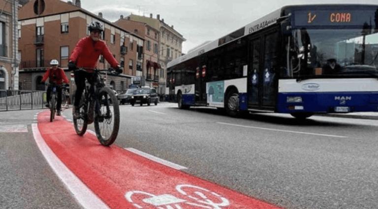 Teramo, la corsia ciclabile di piazza Garibaldi alla ribalta in Europa