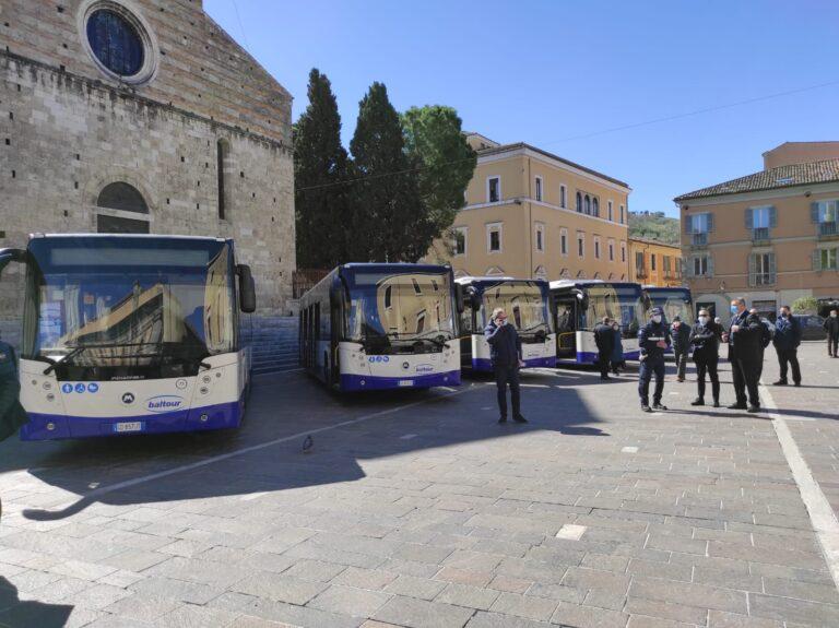 Trasporto locale: cinque nuovi autobus moderni per Teramo FOTO