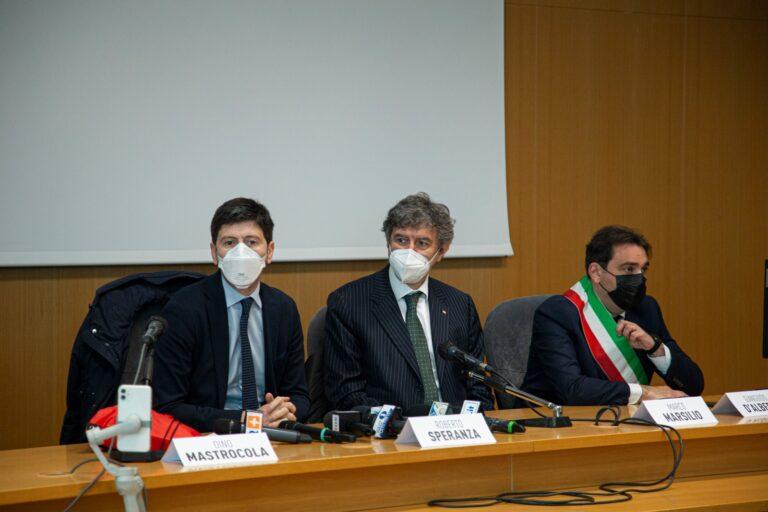 """Speranza a Teramo, Marsilio: """"Il ministro ha visto come l'Abruzzo spende bene i fondi"""""""