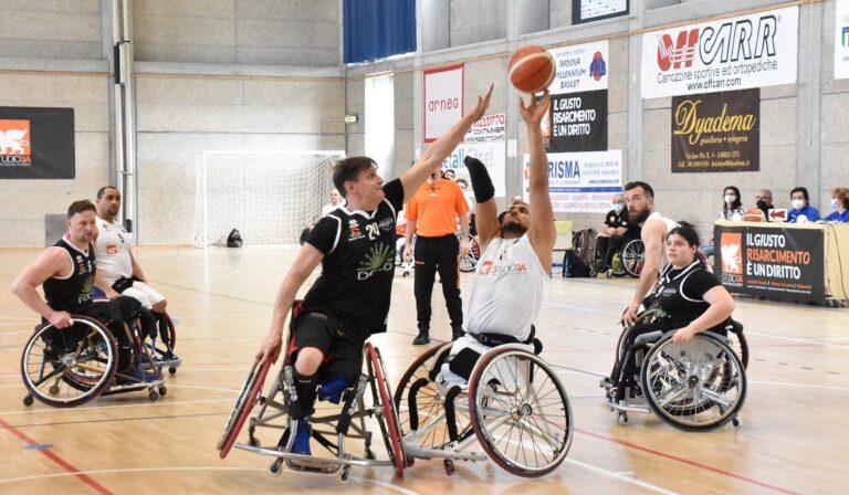 Basket in carrozzina, l'Amicacci Giulianova vince il primo round per il terzo posto
