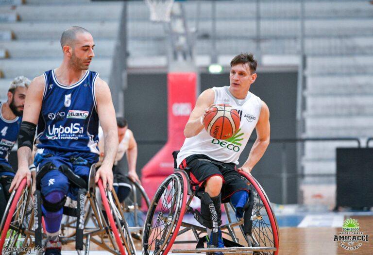 Basket in carrozzina, l'Amicacci perde la semifinale di ritorno a Cantù