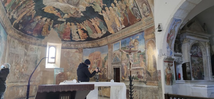 Tornimparte, scienziati e storici dell'arte studiano gli affreschi Saturnino Gatti