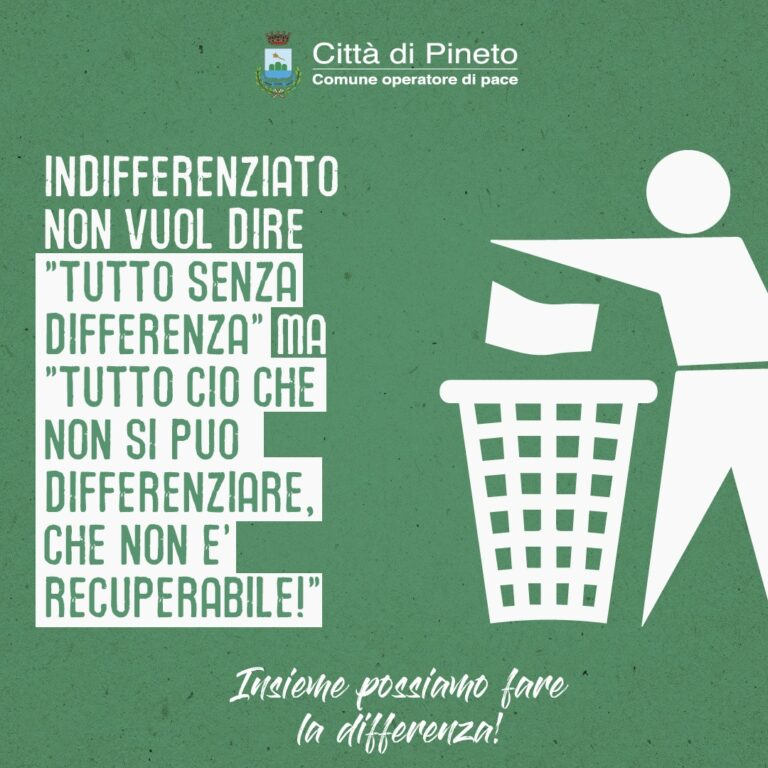 Pineto, campagna di sensibilizzazione per differenziare (meglio) i rifiuti