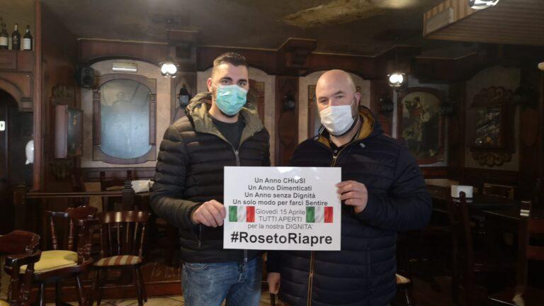 #RosetoRiapre, manifestazione pacifica domani di titolari di pub, ristoranti, pizzerie e palestre NOSTRO SERVIZIO