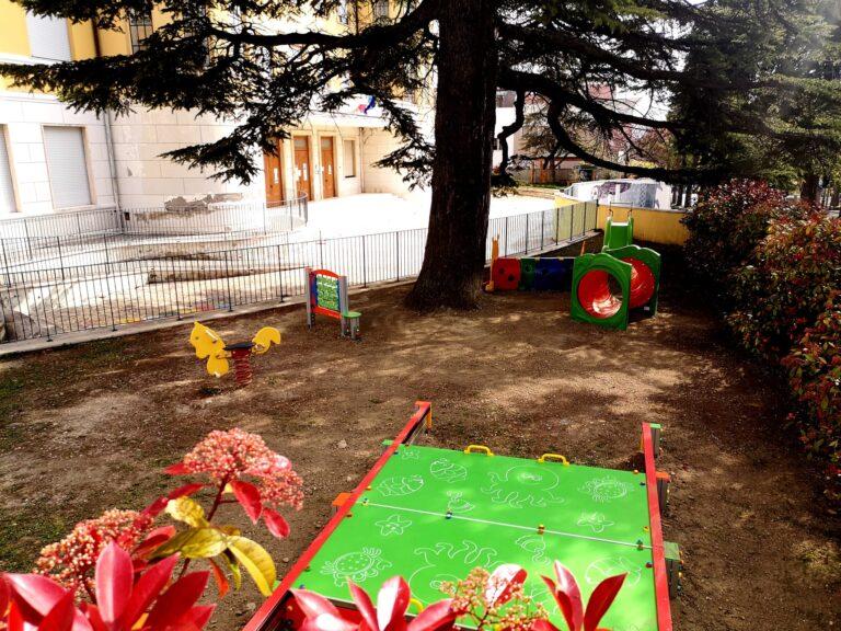 Atri, nuovi giochi per la scuola dell'infanzia Amaltea FOTO