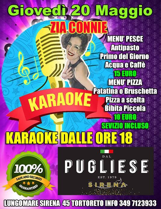 STASERA Karaoke da DAL PUGLIESE RISTORANTE