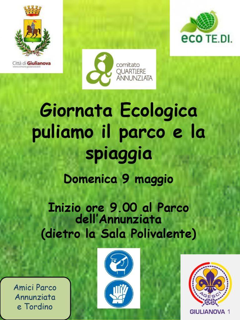 Giulianova, giornata ecologica al parco e alla spiaggia dell'Annunziata