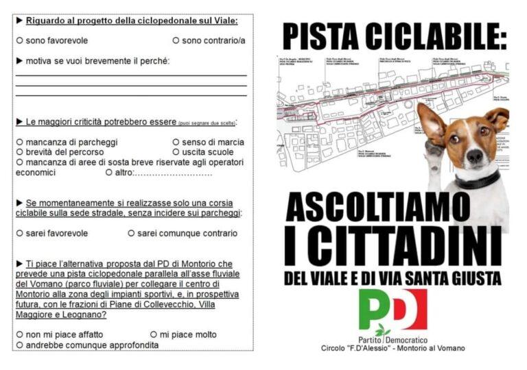 """Montorio, pista ciclabile: il Pd tira le somme dell'iniziativa """"ascoltiamo i cittadini"""""""