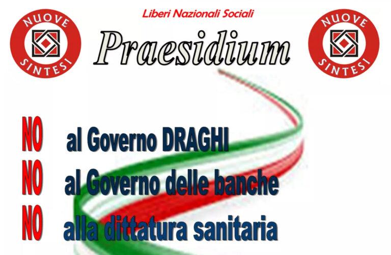 San Nicolò, presidio di Nuove Sintesi per protestare al governo Draghi