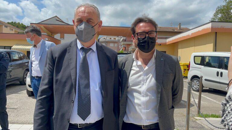 """Ricostruzione, Legnini a Teramo: """"Ora sta a Comune e Ater"""" FOTO VIDEO"""