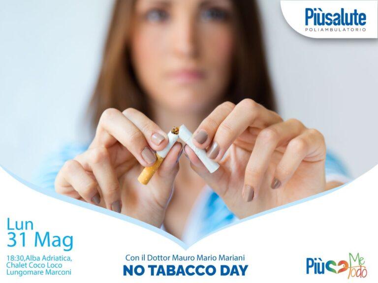 """Lunedì 31 maggio, """"No Tabacco Day"""": l'evento per promuovere i benefici di una vita senza fumo"""
