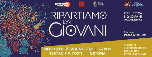 Ortona, il Teatro Tosti riparte con il concerto 'Ripartiamo dai giovani'