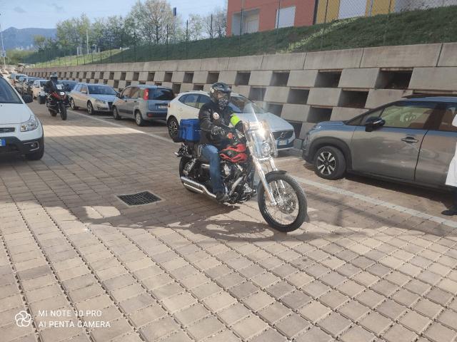 L'Aquila, motociclisti al servizio della campagna vaccinale: l'iniziativa FOTO