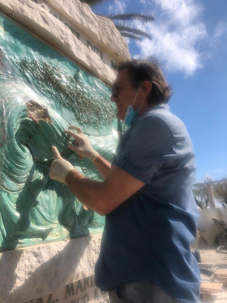 Giulianova, al via gli interventi di restauro sul monumento ai Caduti del Mare