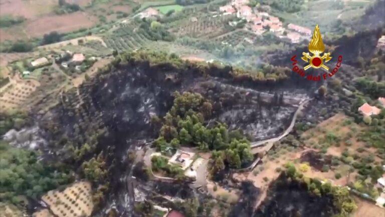 Pescara, incendio a Colle Orlando: torna l'incubo dopo San Silvestro