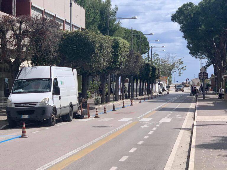 Giulianova, al via gli interventi di rifacimento della segnaletica orizzontale al centro