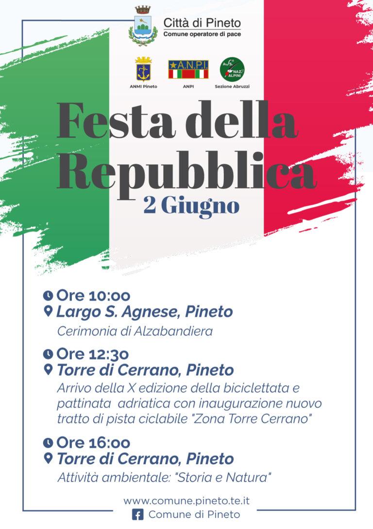 Festa della Repubblica: le iniziative a Pineto