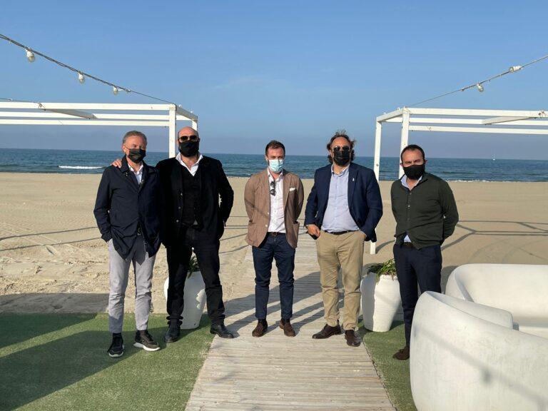 L'Europarlamentare Massimo Casanova in visita a Giulianova