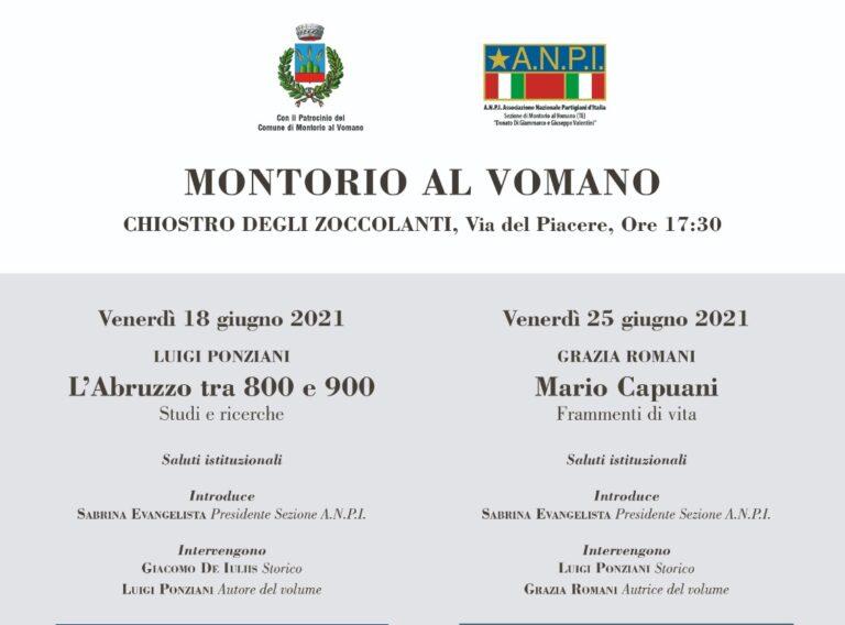 Anpi Montorio, due incontri per presentare i volumi di Luigi Ponziani