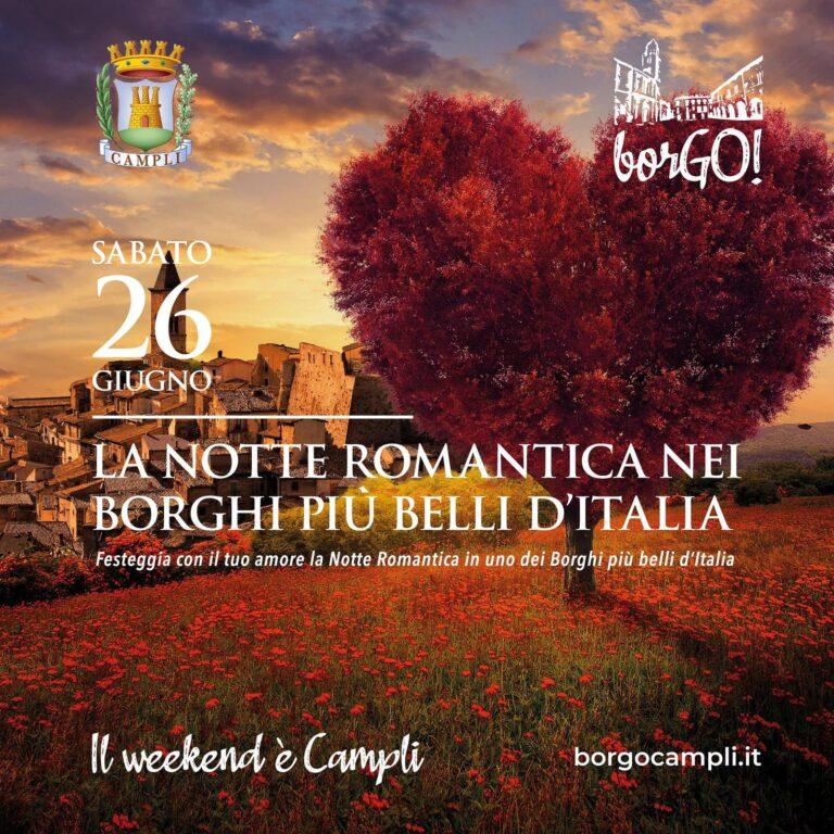 Campli, torna borGO! Notte romantica e maxi schermo per Italia-Austria