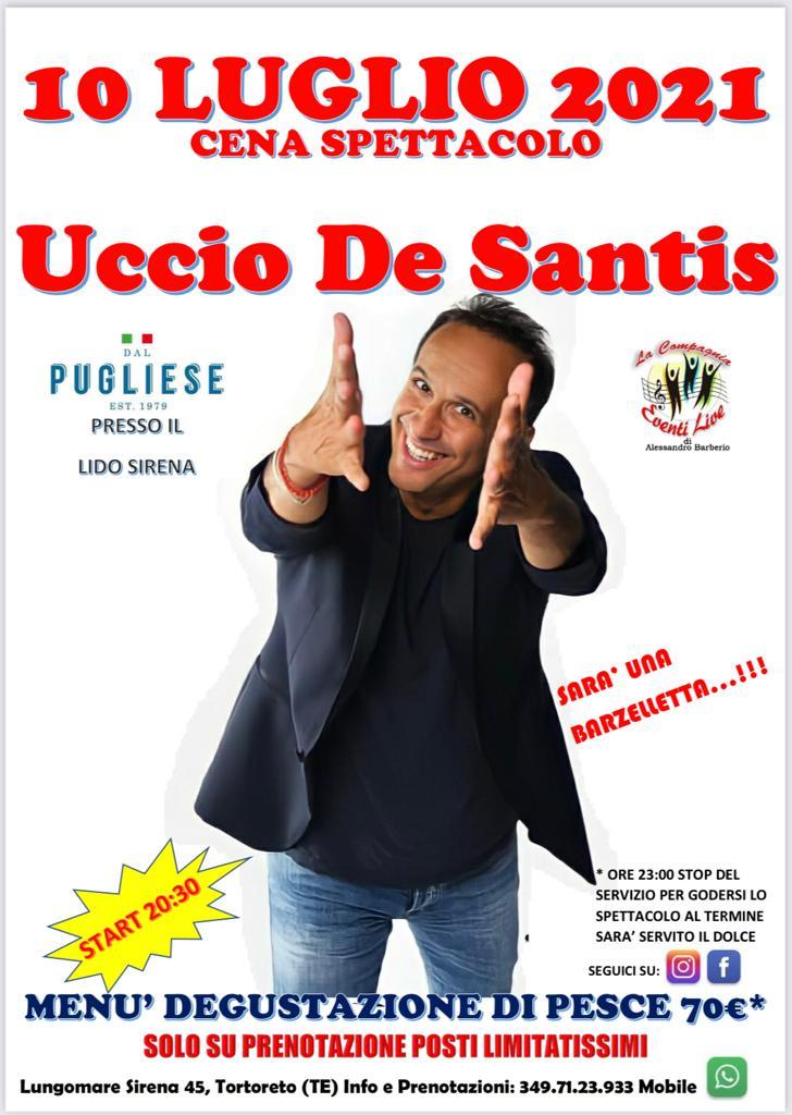 SUPER EVENTO il 10 Luglio da DAL PUGLIESE RISTORANTE a Tortoreto. Affrettati a prenotare!