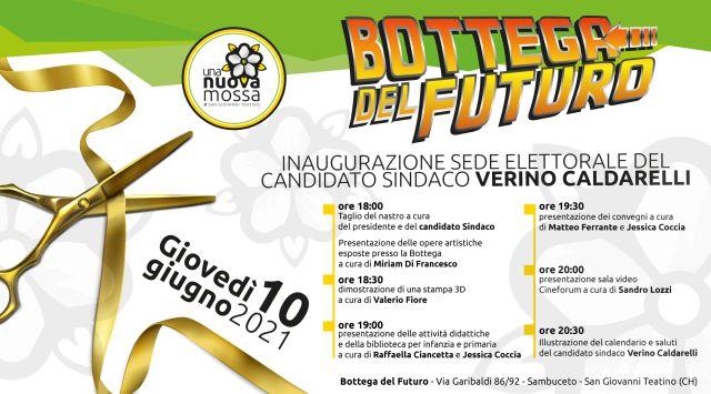 San Giovanni Teatino: inaugurazione della 'Bottega del Futuro', sede elettorale di Verino Caldarelli