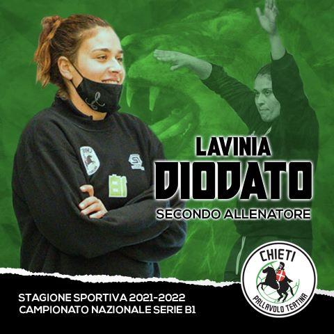 Pallavolo Teatina: Lavinia Diodato, vice di Cristian Piazzese