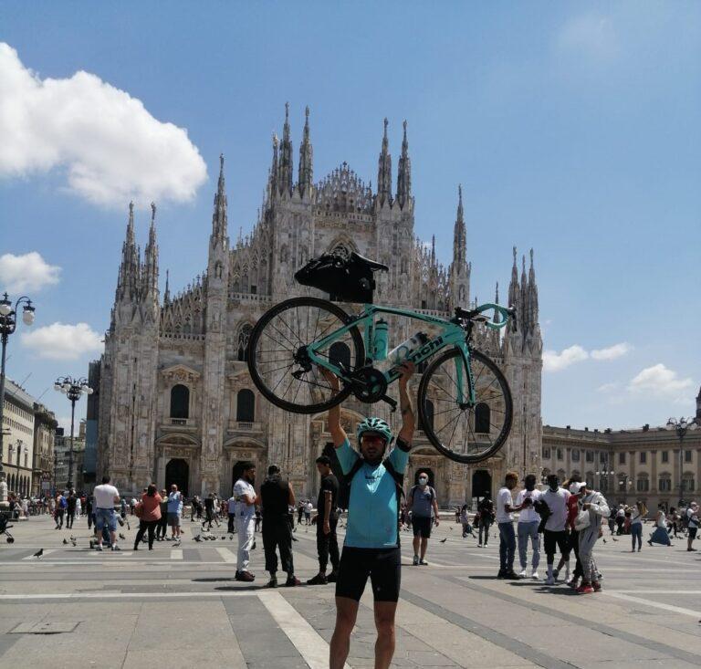 Davide Giannini porta il nome dell'Abruzzo: in bici fino a Venezia