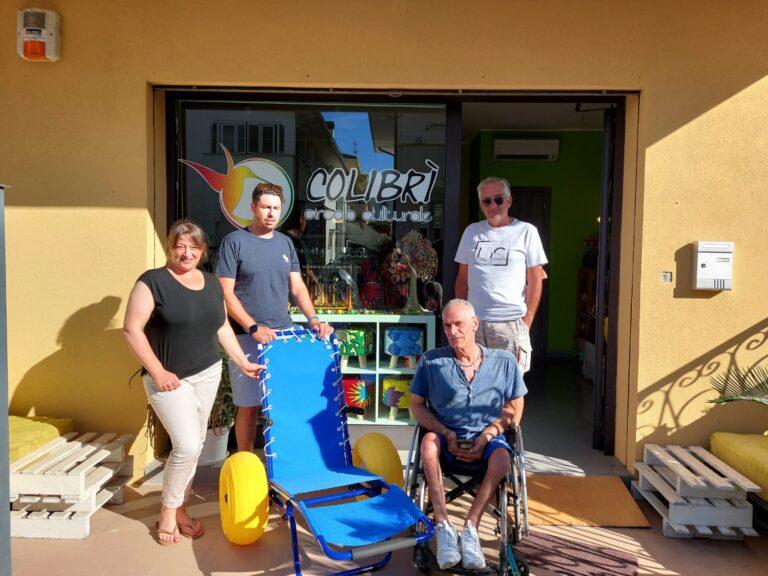 Giulianova, una sedia job per disabili a disposizione degli stabilimenti balneari