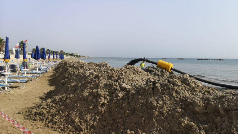 Cologna Spiaggia, iniziati i lavori di ripascimento morbido. Draga in azione dalle 4 del mattino NOSTRO SERVIZIO